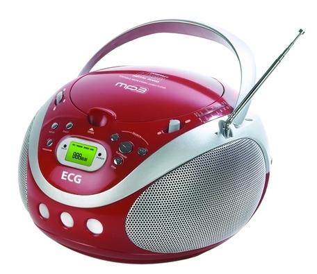 obrázek - ECG CDR 677 MP3 červený